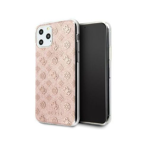 Guess 4G Peony Solid Glitter - Etui iPhone 11 Pro (różowy), 10_14909