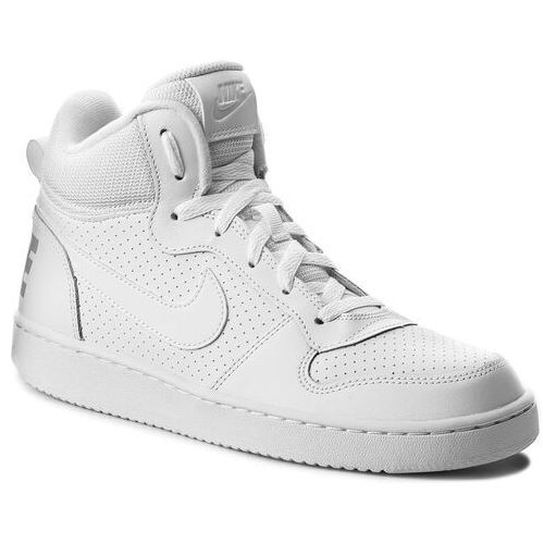 Buty - court borough mid (gs) 839977 100 white/white/white marki Nike
