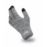 Ciepłe materiałowe rękawiczki pamami jasnoszare