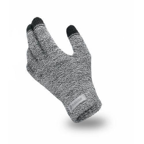 Rękawiczki męskie - jasnoszara mulina - jasnoszara mulina marki Pamami