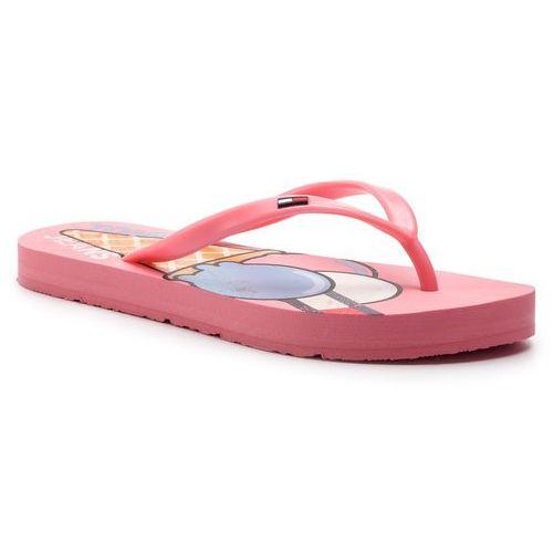 d28306b0292c4 Tommy Jeans Japonki TOMMY JEANS - Ice Cream Beach Sandal EN0EN00467  Geranium Pink 669