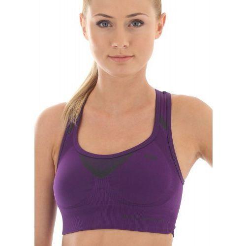 Stanik sportowy crop top fitness damski cr10070 purpurowy marki Brubeck