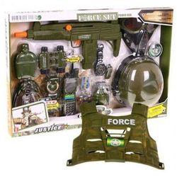 Jj slot Zestaw żołnierza (16-el.): chełm+kamizelka kulood.+karabin+lornetka+zegarek+granat+odznaka+menażka..