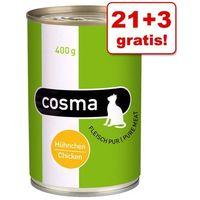 21 + 3 gratis! Cosma Original / Thai w galarecie, 24 x 400 g - Original: Kurczak| -5% Rabat dla nowych klientów| Darmowa Dostawa od 89 zł i Super Promocje od zooplus! (4260077043713)