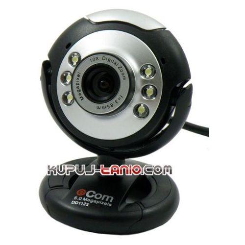 Kamera internetowa e-Com 5 MPx (czarno-srebrna), 000017