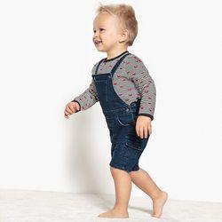 Wzorzysta koszulka niemowlęca z długim rękawem - 1 mieiąc - 3 lata