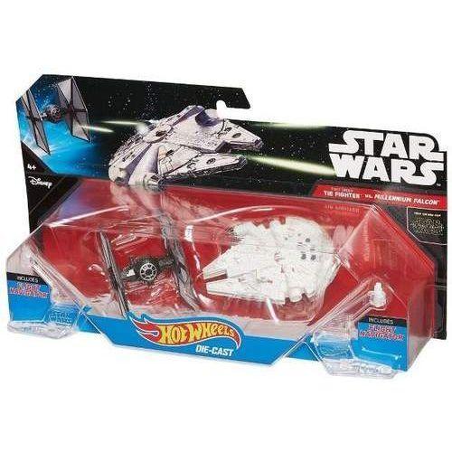 SW Statek kosmiczny dwupak First Order Tie Fighter vs Millennium Falcon Starship, 75168502830ZA (4796233)