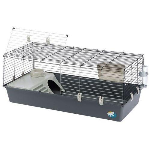 rabbit 120 klatka dla królików i świnek morskich - szara kuweta| darmowa dostawa od 89 zł i super promocje od zooplus! marki Ferplast