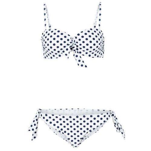 c6d705f04bec7e Bikini na fiszbinach (2 części) bonprix biało-niebieski, poliester
