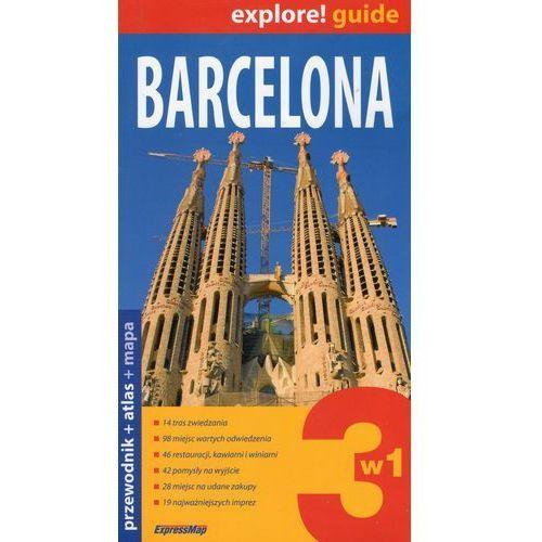 Barcelona 3w1 Przewodnik+atlas+mapa, oprawa broszurowa