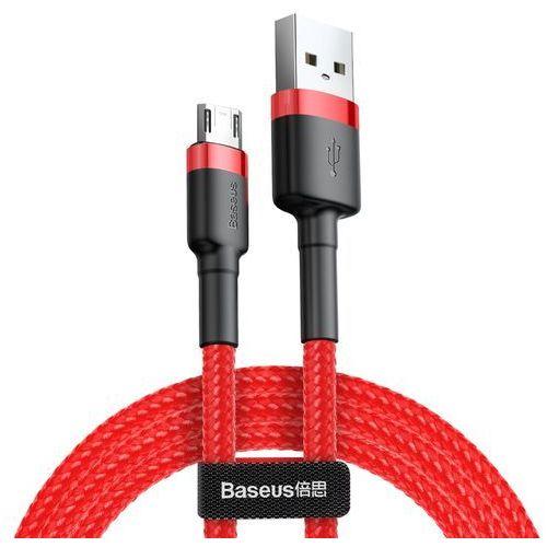Cafule cable wytrzymały nylonowy kabel przewód usb micro usb qc3.0 2.4a 0,5m czerwony (camklf a09) (Baseus)