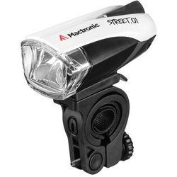 Street.01 L-AL-01BF lampa rowerowa przednia ładowalna z czujnikiem Cree XP-E LED 140lm Mactronic