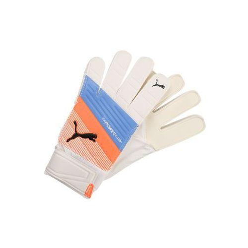 Puma EVOPOWER GRIP 4.3 Rękawice bramkarskie puma white/blue yonder/shocking orange