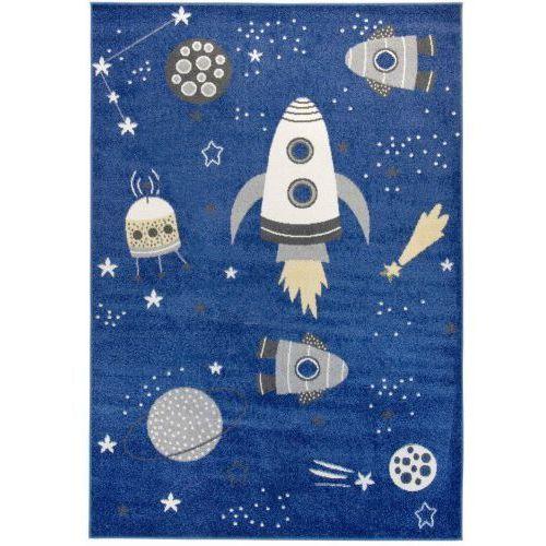 Dywan Dziecięcy Komfort Easy Space 140x200 Niebieski Roomzonepl