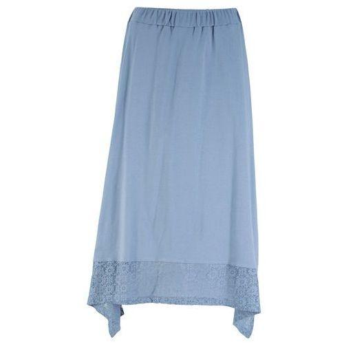 Spódnica z koronką biel wełny, Bonprix, 48-50