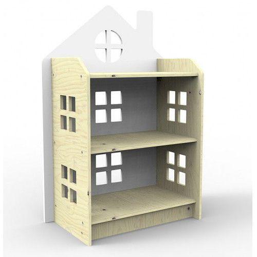 Drewniany regał domek biały marki Planeco