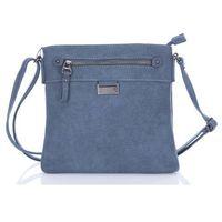 Wygodna torebka damska listonoszka miejska Jennifer Jones niebieska