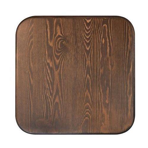 Krzesło metalowe, siedzisko drewniane TOWER WOOD czarne - sosna antyczna/metal (5900168810075)
