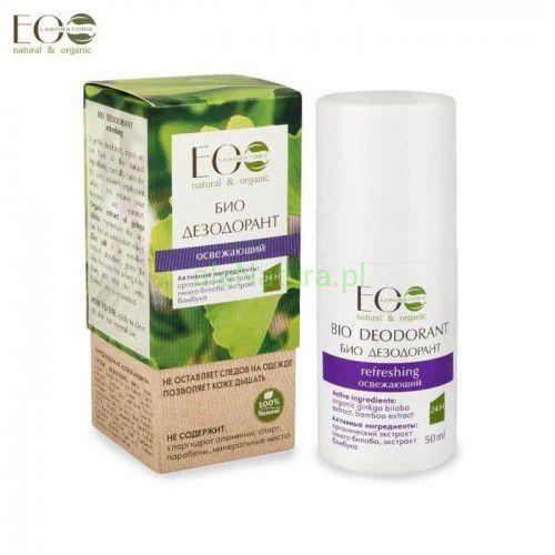 Ecolab bio-dezodorant - odświeżający - organiczny ekstrakt miłorzębu japońskiego, ekstrakt bambusa 50ml (4627089433657)