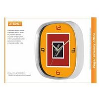 Zegar reklamowy kwadrat srebrny /304mm, kolor Zegar