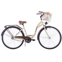 (K23) Rower miejski damski Kozbike 28 kremowo-brązowy standard