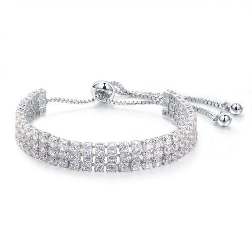 Br599/888 bransoletka ślubna platynowana z cyrkoniami marki Mak-biżuteria