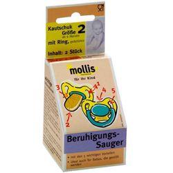 Mollis (smoczki dla dzieci) Smoczek dla dzieci kauczukowy od 6 miesiąca (2 szt.) - mollis