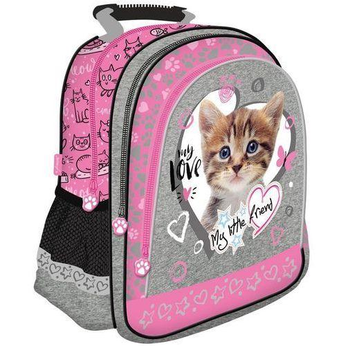 St-majewski Plecak szkolny kot różowy