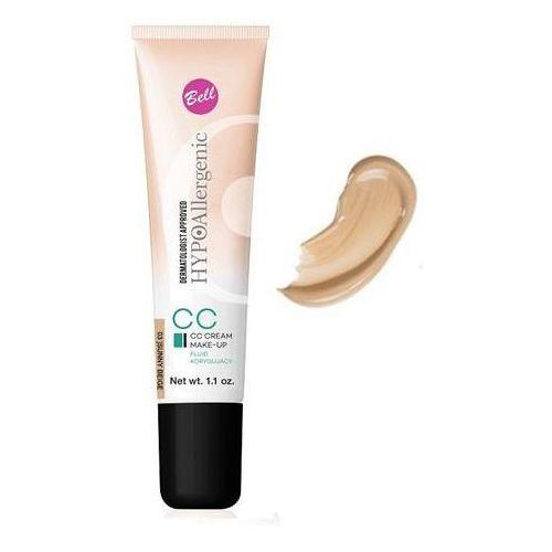 Bell , hypoallergenic cc cream. fluid korygujący, nr 03 sunny beige, 30g - bell. darmowa dostawa do kiosku ruchu od 24,99zł