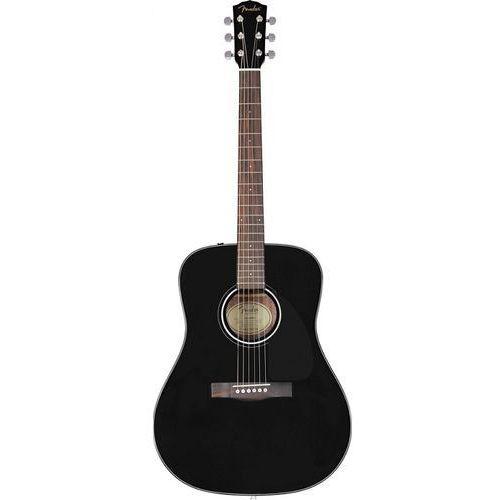Fender cd-60s dreadnought black wn gitara akustyczna