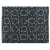 Calvin Klein Portfel skórzany 12 cm black monogram ZAPISZ SIĘ DO NASZEGO NEWSLETTERA, A OTRZYMASZ VOUCHER Z 15% ZNIŻKĄ