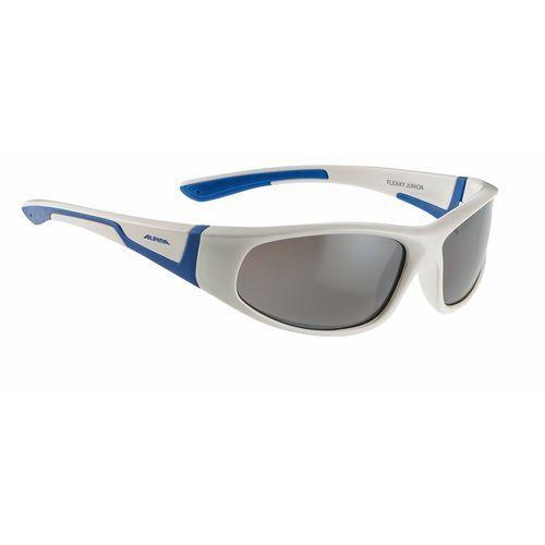 Nowe okulary przeciwsłoneczne flexxy junior white/blue marki Alpina