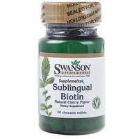 Swanson Biotyna (Sublingual Biotin) 5000 mcg - 60 tabletek do ssania