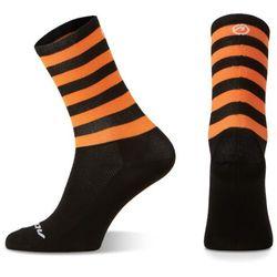 Accent Skarpetki kolarskie stripe long, czarno-pomarańczowe, xl (45-46)