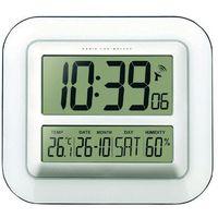 Zegar ścienny cyfrowy Techno Line WS 8006 Sterowany radiowo, (SxWxG) 280 x 245 x 32 mm