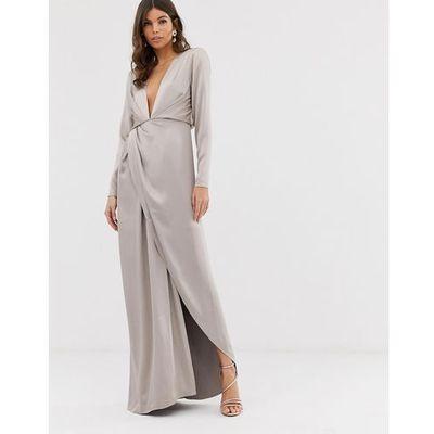 91b814f440 suknie sukienki max mara sukienka ecru ASOS EDITION kolekcja wiosna ...