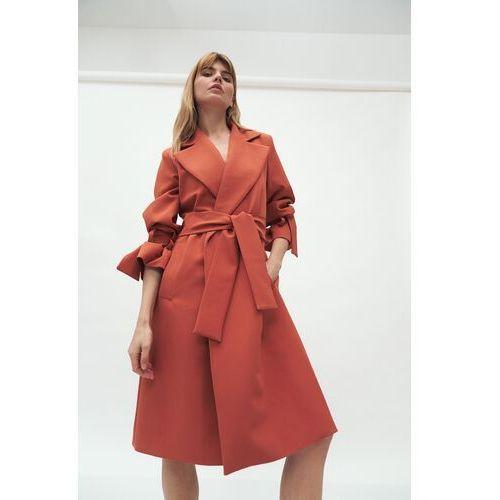 Niezapinany wiosenny płaszcz - machoń, 1 rozmiar