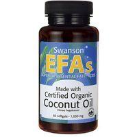 P_POZ Swanson, Olej z kokosa (EFAS) 1000mg, 60 kapsułek DARMOWA DOSTAWA od 39,99zł do 2kg!