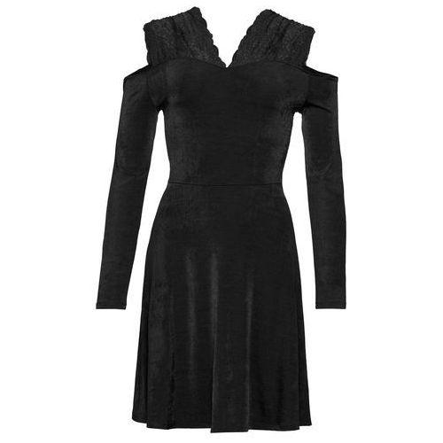 Sukienka lniana biel wełny, Bonprix, 32-50