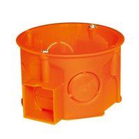 elektro-plast nasielsk Puszka podtynkowa 60 łączona płytka z wkrętami 0284-01 pomarańczowa elektro-plast (5907813203046)