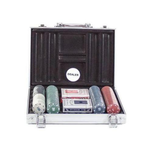 Zestaw do pokera... (200 żetonów + karty + kości) + aluminiowa walizka... marki S.t.i. ltd.