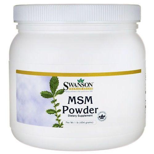 Swanson MSM (Methyl - Sulfonyl - Methane) proszek czysty 454g - suplement diety