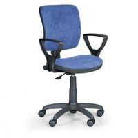 B2b partner Krzesło biurowe milano ii z podłokietnikami - niebieske