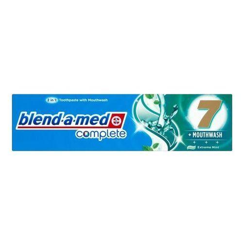 Blend-a-med Complete 7 + Mouthwash Extreme Mint pasta do zębów i plyn do płukania jamy ustnej 2w1 kompletna ochrona zębów 100 ml