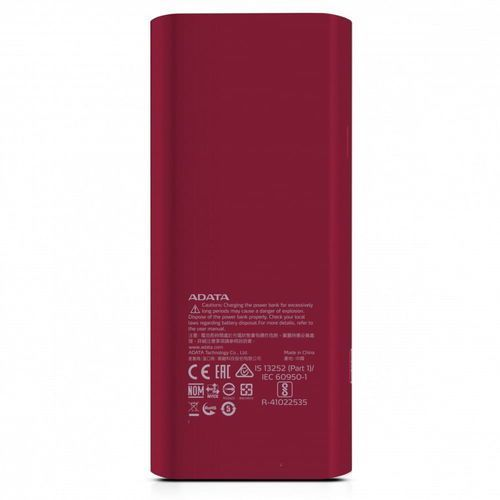 power bank p12500d 12500mah czerwony 2.1a marki Adata