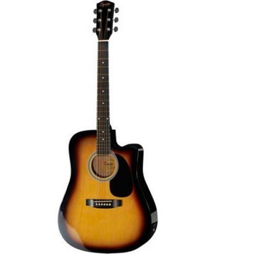 Fender squier sa-105ce dreadnought sunburst gitara elektroakustyczna