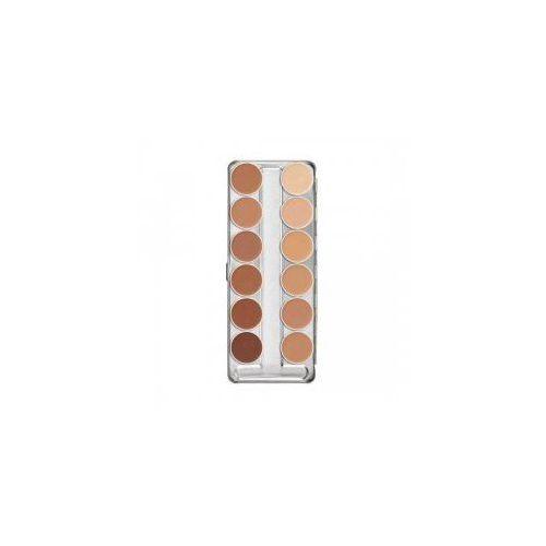 Kryolan Dermacolor, Camouflage Creme Palette, paleta 12 kamuflaży, 40g - Najtaniej w sieci