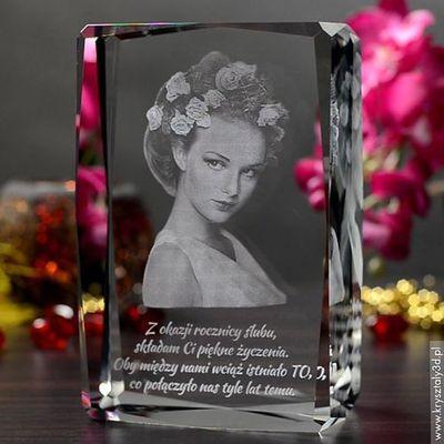 Na rocznicę ślubu dla żony  Kryształy3D.pl