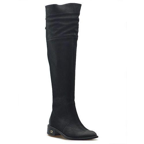 Kozaki damskie B4243 360 Czarne nubuk, kolor czarny (Carinii)