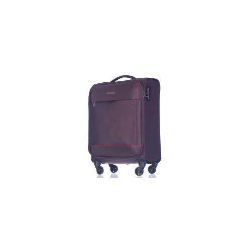 PUCCINI walizka mała/ kabinowa z kolekcji AMSTERDAM miękka 4 koła materiał Nylon zamek szyfrowy